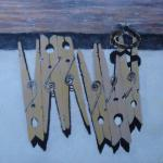 Clothespins 9x12 Egg Tempera on Board